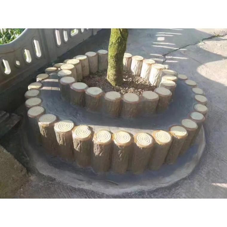 仿木树桩石